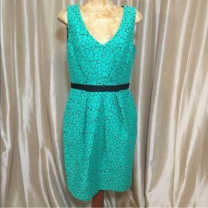 Shoshanna Sheath Dress Size 8 Retro Daisy Wiggle